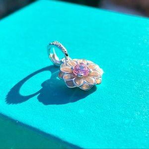 Pandora Blooming Dahlia Dangle Charm